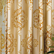 Two Panels Paisley Yellow Bedroom Polyester Panel Curtains Drapes