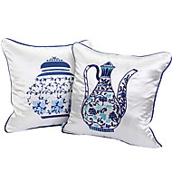 Polyester Pillow Cover , Novelty Country