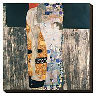 As Três Idades da Mulher, c.1905 por Gustav Klimt famosa tela esticada