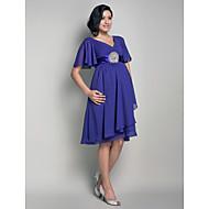 Lanting Knee-length Chiffon Bridesmaid Dress - Regency Maternity A-line / Princess V-neck