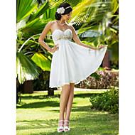Lanting Bride® A-linje / Prinsesse Petit / Plus Størrelser Brudekjole - Chic og moderne / Glamorøs & Dramatisk / Mottakelseskjoler Knelang