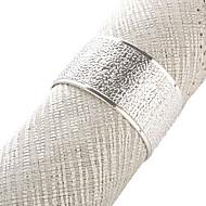 Ensemble de 4 Modern Design en alliage de zinc Rond de serviette
