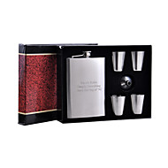 Gift Groomsman Personalized 6-pieces Quality Stainless Steel 8-oz Flask Gift Set