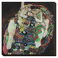 The Embrace by Gustav Klimt Famous Stretched Canvas Print