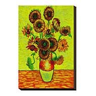 Solrosor av Vincent Van Gogh berömda Sträckt Canvastryck