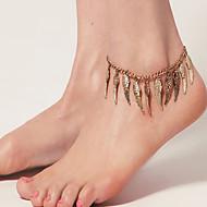 여자의 포도 수확 천사 날개 발목