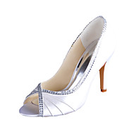 Homme Chaussures de mariage Bout Ouvert Talons Mariage Ivoire/Blanc