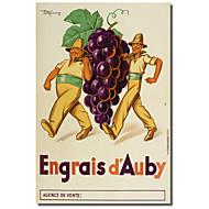 Painettu Canvas Art Vintage Engrais D'Auby by Vintage Julisteet venytetty Frame