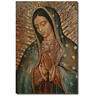Printed Canvas Art Vintage Our Lady by Vintage Apple Collection with Stretched Frame