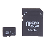 8GB Class 4 MicroSDHC TF Memory Card and MicroSDHC to SDHC Adapter