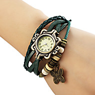 Women's Butterfly Pendant Leather Band Quartz Analog Bracelet Watch (Assorted Colors) Cool Watches Unique Watches Fashion Watch