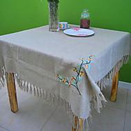 imitation chèque de linge table carrée chiffon