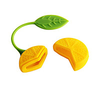 לימון עיצוב תה צמחי מסנן Infuser מסננת שקית תה (צבע אקראי)