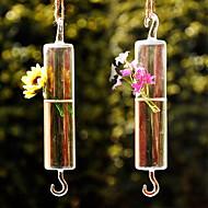 Table maîtresses tubes artistique suspendu verre en forme de deocrations de table vase