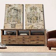 Stretched Canvas Art Architecture Ancient Times Set of 2