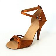 op maat gemaakte zijde met criss-cross band dansvoorstelling schoenen voor vrouwen