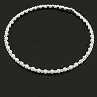 Women's Fashion Sweet Shiny Imitation Pearl Rhinestone Necklace