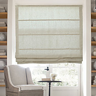 Classic Cotton Linen Solid Roman Shade