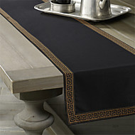 Black / Gold Linen Rectangular Table Runners