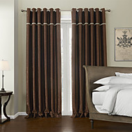 AnTi™ Two Panels  Solid Polyester Blackout Lined Curtain