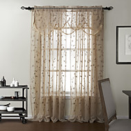 TWOPAGES® (One Panel) Country Embroidery Sheer With Valance Curtain Set
