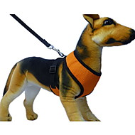 Dog Harness / Leash Soft / Breathable Red / Black / Green / Blue / Pink / Yellow / Gray / Purple / Orange Textile
