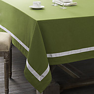 Vert / Rouge Lin Rectangulaire Nappes de table