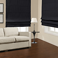 Modern Black Blackout Roman Shade