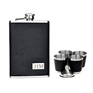 Gift Groomsman Personalized 6 Pieces Quality Stainless Steel 9-oz Flask Gift Set