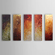 Hand-Painted Abstract Horizontal,Classic Five Panels Oil Painting For Home Decoration
