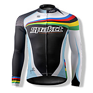 SPAKCT Unisex Long Sleeve Bike Breathable Thermal / Warm Quick Dry Windproof Front Zipper Dust Proof Anti-Insect Wearable Tops100%