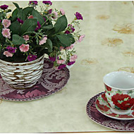 Ensemble de 4 verres pourpres floraux de style européen