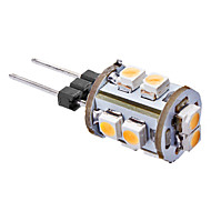 daiwl g4 0.5W 10x3528smd 40-54lm 3000-3500k lämmin valkoinen valo johti maissi lamppu (12v)