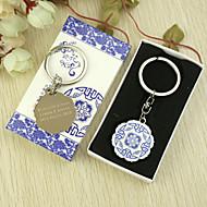 Favor personalizado Chaveiro clássico na caixa de presente (conjunto de 6)