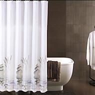 Monochromes chinois étanche en polyester épais rideaux de douche