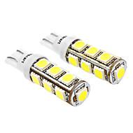 T10 6W 13x5060SMD 480-520LM 6000-6500K bílé světlo LED žárovka pro auto (DC 12V, 2-Pack)