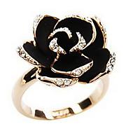 Prstenje sa stavom Legura imitacija Diamond Flower Shape Zlatan Jewelry Dnevno 1pc