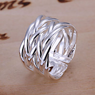 Ring Party Jewelry Alloy / Silver Plated Band RingsAdjustable Gold