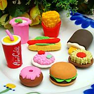 fast food vormige gum set (4 stuks)