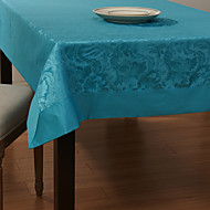 Bleu Polyester Rectangulaire Nappes de table