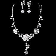 Conjunto de jóias Mulheres Aniversário / Casamento / Noivado / Presente / Festa / Ocasião Especial Conjuntos de Joalharia LigaStrass /