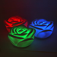 Colorful LED Flashing Rose Lamp -Set of 4