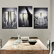 Stretched Canvas Art Still Life Wine Cup Set of 3