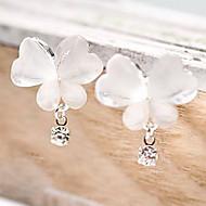 kvinners fint iskrystaller butterfly diamant øredobber E73