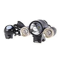 Luzes de Bicicleta / Luz Frontal para Bicicleta LED Cree Ciclismo Recarregável / alarme 18650.0 1800 Lumens Bateria Ciclismo