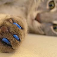 ネコ グルーミングキット ヘルスケア ネイルカバー ペット用 お手入れグッズ レッド グリーン ブルー ピンク ハンターグリーン