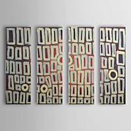 Hand Painted Oil Painting Abstract Oops with Stretched Frame Set of 4 1310-AB1215