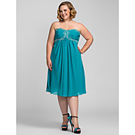 TS Couture Cocktail Party / Holiday Dress - Jade Plus Sizes / Petite A-line Sweetheart / Strapless Knee-length Chiffon