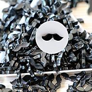 20ks Cute Black Beard pryskyřice Nail Art Dekorace 11.5x3.5mm
