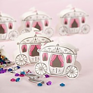 "12 Piece/Set Favor Holder - Cuboid Card Paper Favor Boxes ""Enchanted Carriage"" Fairytale Theme"
